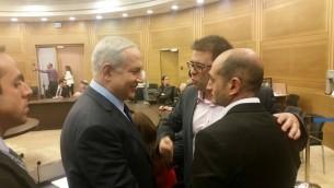 Benjamin Netanyahu, Oren Hazan et Yoni Zarka (Crédit : Autorisation/Yoni Zarka)