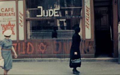 Image d'un film du projet des films éphémères. (Crédit : Steven Spielberg Film and Video Archive, United States Holocaust Memorial Museum)