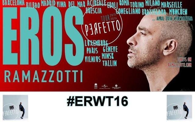 Tournée Perfetto (Crédit : Facebook/Eros Ramazzotti)