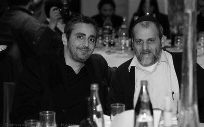 Eric Toledano et Stéphane Benhamou (Crédit : Facebook/Cercle d'Amitié Le Silence des Justes)