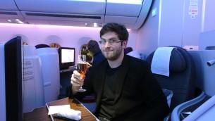 Zach Honig au siège 6F avant le décollage (Crédit : The Points Guy)