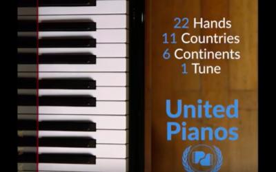 Capture d'écran de la vidéo des artistes pour la paix (Crédit : YouTube)