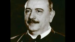 Balint Homan, ministre hongrois de la Religion et de l'Education pendant la seconde guerre mondiale. (Capture d'écran YouTube)