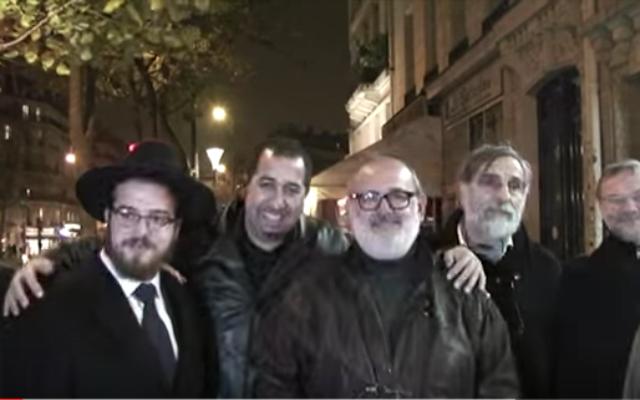 Capture d'écran : YouTube/ Hanouka devant le Bataclan, hommage aux victimes
