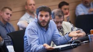 Le député HaBayit HaYehudi Bezalel Smotrich, à la Knesset le 8 juin 2015 (Crédit : Miriam Alster / FLASH90)