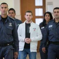 Yitzhak Gabai, un membre de l'organisation d'extrême droite Lehava à la cour de district de Jérusalem, le 1er décembre 2015 (Crédit: Yonatan Sindel / Flash90)