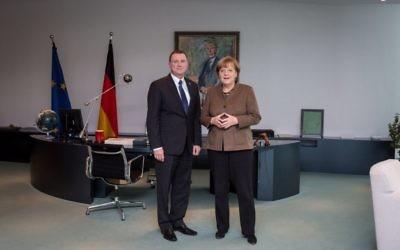 Yuli-Yoel Edelstein et Angela Merkel (Autorisation)