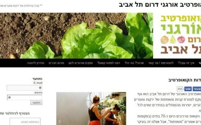 Capture d'écran de la page d'accueil du site de la coopérative de Florentine (Crédit : autorisation)