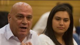 Issawi Freij, député du Meretz, à la Knesset, le 17 juin 2015. (Crédit : Miriam Alster/Flash90)
