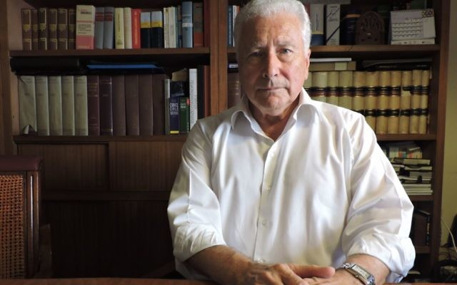 Renzo Gattegna, président de l'union des communautés juives italiennes. (Crédit : Ben Sales/JTA)