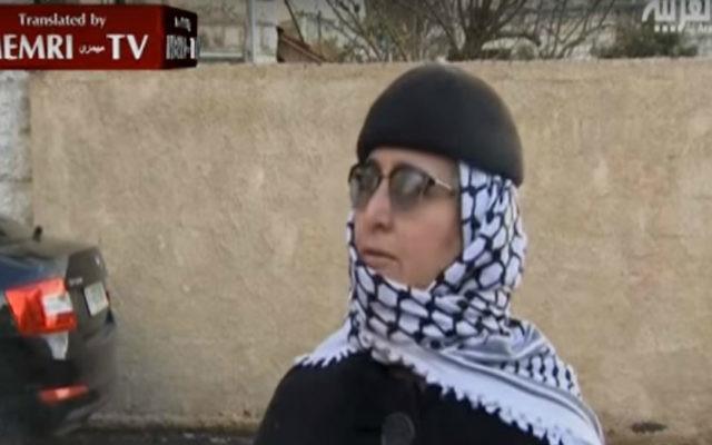Kifah Kayyal, l'ex-femme du terroriste Samir Kuntar, dans un entretien avec Al-Arabiya le 21 décembre 2015. (Crédit : capture d'écran YouTube / MEMRI)