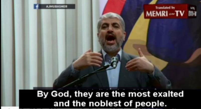 Khaled Meshaal du Hamas à Kuala Lumpur, en Malaisie, le 10 décembre 2015 (Crédit : Capture d'écran MEMRI)