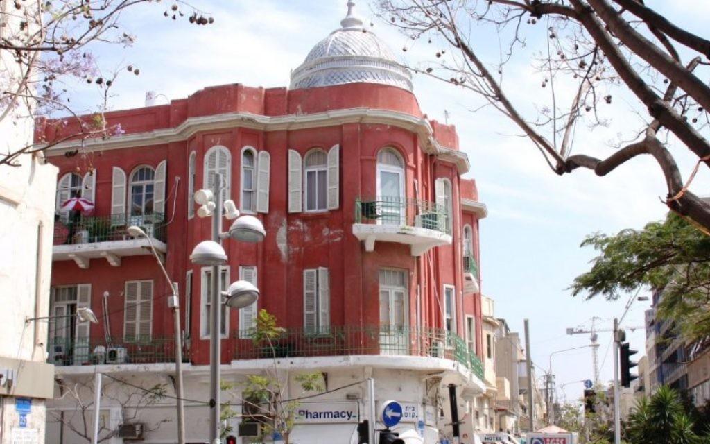 L'hôtel Nordau, Nahalat Binyamin (Crédit : Shmuel Bar-Am)