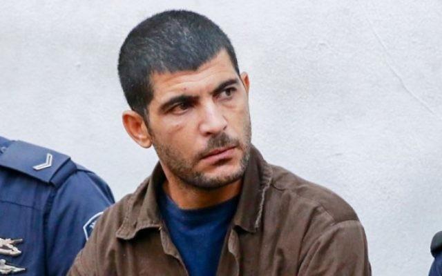 Raed Khalil bin Mahmoud, 36 ans, au tribunal de Tel Aviv le 2 décembre 2015 (Crédit photo: Flash90)