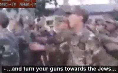 Des soldats algériens défilent en chantant «Tuez les Juifs» (Capture d'écran YouTube)