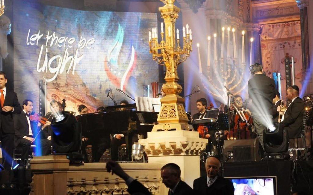 Le concert à la synagogue de la Victoire dédié aux victimes des attentats de l'Hyper Cacher de Vincennes, le 9 janvier dernier - 9 décembre 201( (Crédit : Eva Tapiero/Times of Israel)