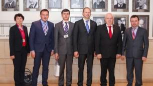 La délégation ukrainienne en visite en Israël (Crédit : autorisation)