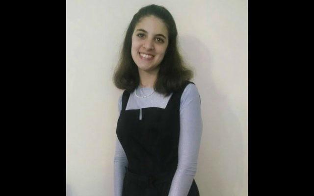 Devorah Stubin, 22 ans, qui avait disparu depuis trois jours, a été retrouvée morte dans une rivière du New Jersey, dans ce qui semble avoir été un accident de voiture, le 16 janvier 2016 (Crédit : Autorisation)