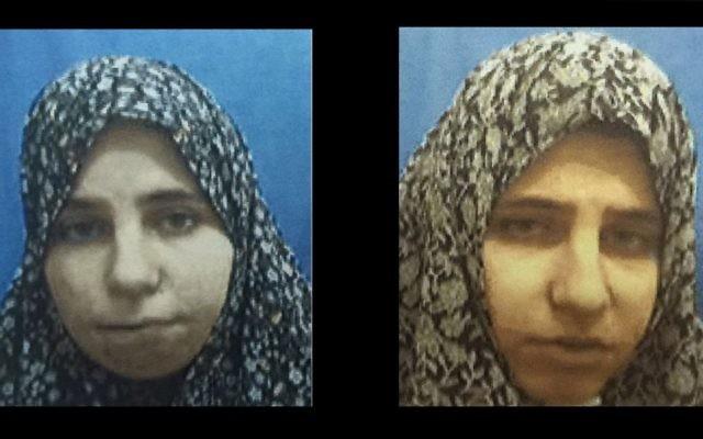 Diana Hawila (à gauche), et Nadia Hawila (à droite), deux sœurs jumelles de la ville palestinienne de Tulkarem, qui ont été arrêtées par les forces de sécurité israéliennes en décembre 2015 pour avoir fabriqué des bombes artisanales et d'autres dispositifs explosifs pour les utiliser dans des attaques terroristes, selon le service de sécurité du Shin Bet le 25 janvier, 2016 (Crédit : Shin Bet)