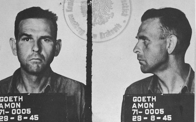 Amon Goeth, le brutal commandant SS du camp de concentration de Plaszow près de Cracovie, en Pologne. (Crédit : Wikimedia Commons)