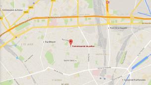 Commissariat du commissariat de la Goutte d'Or du 18e arrondissement de Paris (Crédit : Google Maps)
