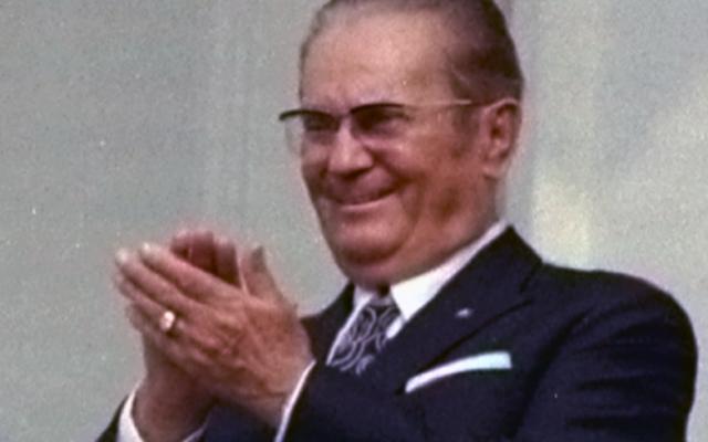 Josip Broz Tito en 1971 (Crédit : domaine public/Wikimedia commons)