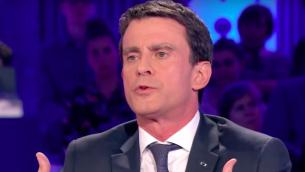 Manuel Valls à l'émission On n'est pas couché de Laurent Ruquier diffusée le 16 janvier 2016 (Crédit : Capture d'écran YouTube)