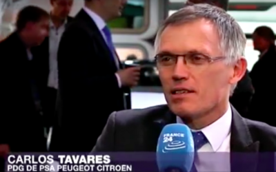 Carlos Tavares (Crédit : Capture d'écran France 24/YouTube)
