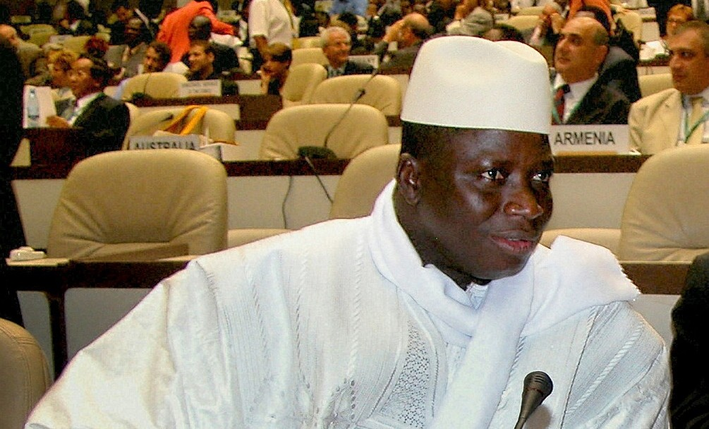 Le président Yahya Jammeh de la Gambie (Crédit : CC BY-SA 3.0/Zantastic)