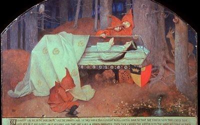 Blanche Neige de Marianne Stokes peint entre 1880-1890 (Crédit : Domaine public)