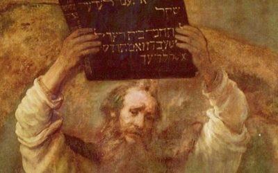 Moïse brisant les Tables de la Loi de Rembrandt (1659) (Crédit : Wikipédia)