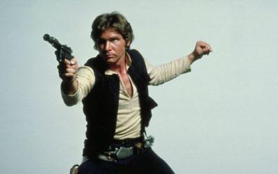 """Han Solo, personnage de """"Star Wars"""", interprété par Harrison Ford. (Crédit : Flickr/BagoGames/CC BY 2.0)"""