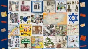 L'un des quatre patchworks en souvenir de l'Holocauste créés par les survivants, en exposition au musée juif de Londres. (Crédit : autorisation)