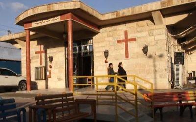 L'église catholique chaldéenne Mar Elia du père Douglas Al-Biza à Erbil, en Irak. (capture d'écran)