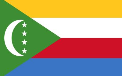 Drapeau de l'archipel des Comores (Crédit : domaine public/CC0)