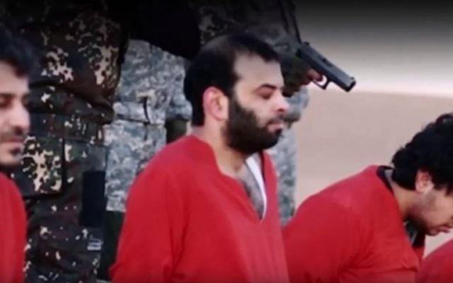 Capture d'écran de la vidéo de l'Etat islamique menaçant la Grande-Bretagne diffusée le 3 janvier 2015 (Crédit : Capture d'écran Aban News)