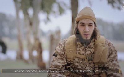 Capture d'écran d'une vidéo de propagande djihadiste publiée par l'État islamique le 24 janvier 2016