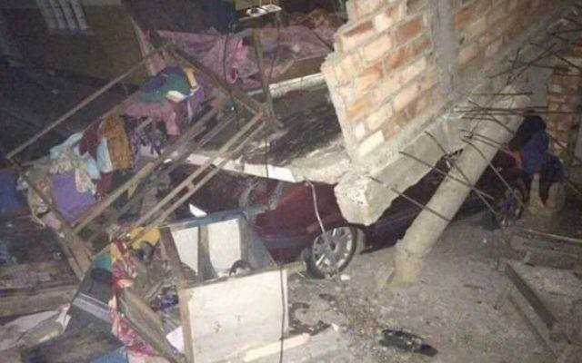 Dommages causés par un tremblement de terre de magnitude 6,7 dans l'Etat de Manipur dans le nord-est de l'Inde, qui est le foyer de la communauté Bnei Menashe (Autorisation Shavei Israel)