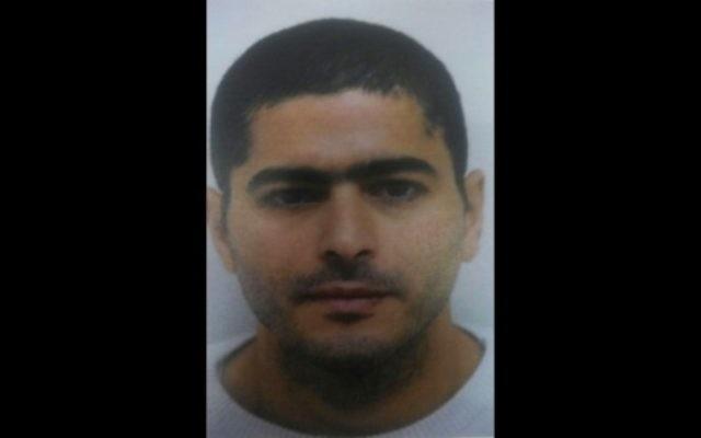 Nashat Milhem, l'homme arabe israélien qui aurait perpétré la fusillade à Tel Aviv le 1er janvier 2016 (Crédit : Police israélienne)