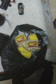Les forces de sécurité ont trouvé des allumettes et des billes dans la maison de Diana et Nadia Hawila, qui aurait pu être utilisé lors de manifestations violentes, en décembre 2015 (Crédit : Shin Bet)