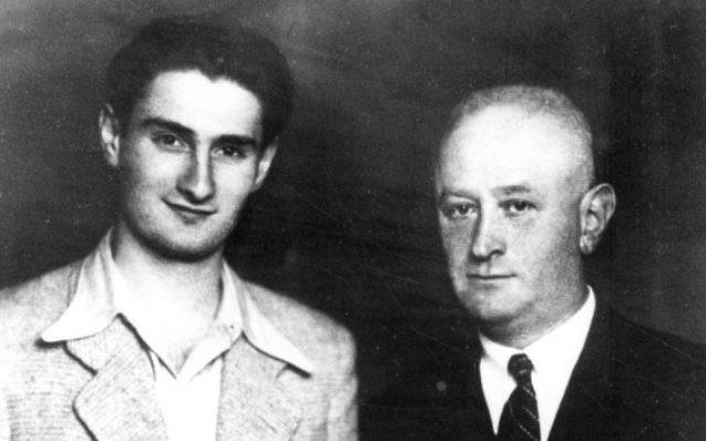 David Stoliar (à gauche) en février 1946 (Autorisation)