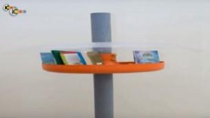 Un croquis de l'idée de Slomit Krigman pour des mini bibliothèques urbaines (Capture d'écran YouTube)