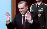 Le président turc Recep Tayyip Erdogan avant la cérémonie de prestation de serment au Parlement turc à Ankara, le 23 juin 2015. (Crédit : Adem Altan/AFP)