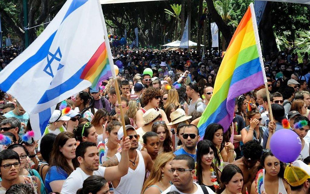 La gay pride à Tel Aviv (Crédit : CC BY-SA 2.0/Marche des fiertés de Tel-Aviv-Jaffa en 2012/U.S. Embassy Tel Aviv)