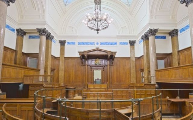 Un tribunal du Royaume-Uni. (Crédit : CC BY Michael D Beckwith/Flikr)