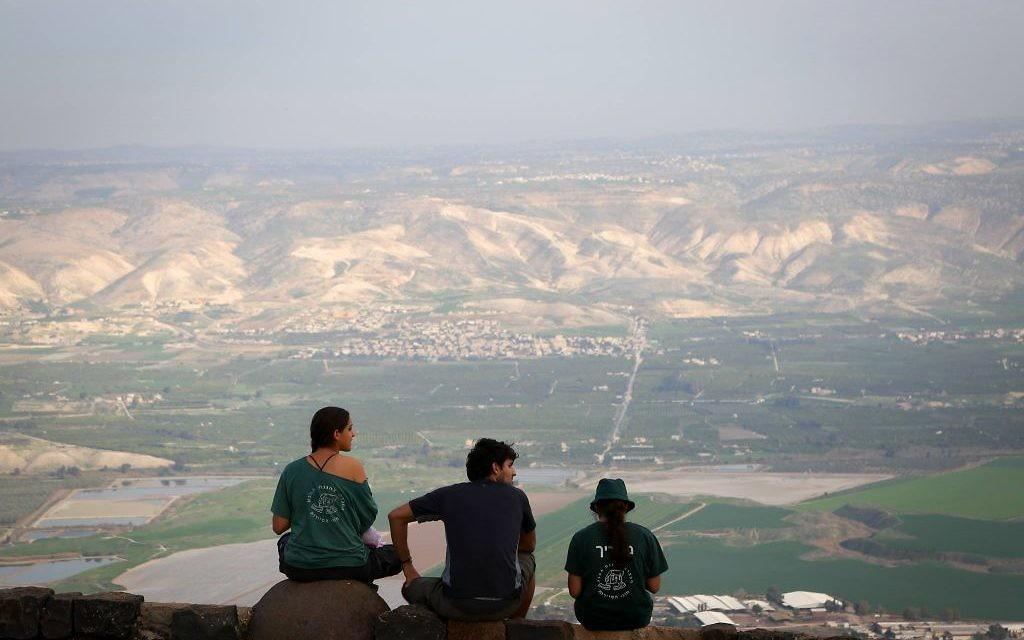 Vue sur la vallée du Jourdain (Crédit : Yaakov Lederman/FLASH90)
