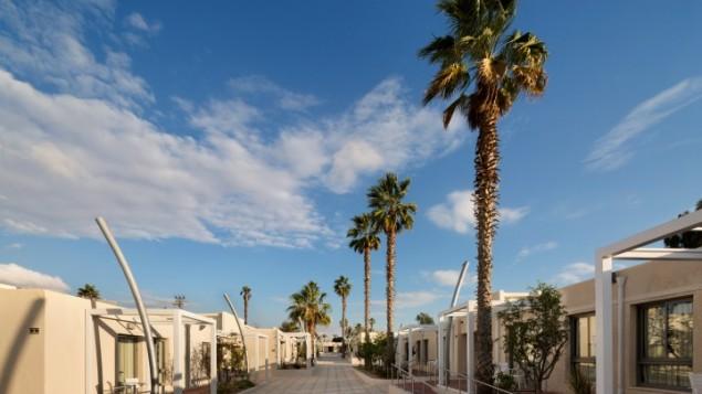 L'original hôtel de cabines à une chambre au Desert Iris Hotel de Yeruham (Crédit : autorisation Assaf Pinchuk)