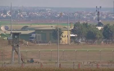 Vue sur la base aérienne turque d'Incirlik (Crédit : capture d'écran YouTube)