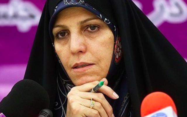 La vice-présidente iranienne pour les Femmes et les Affaires familiales Shahindokht Molaverdi an août 2015. (Crédit : Tasnim News Agency/Mohammad Ali Marizad)