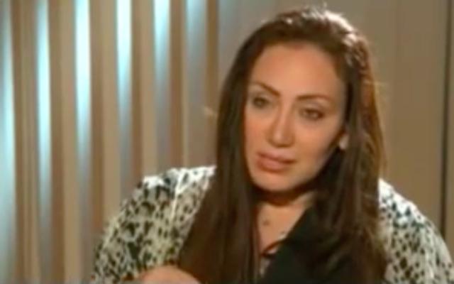 Riham Saeed (Crédit : Capture d'écran MEMRI/YouTube)